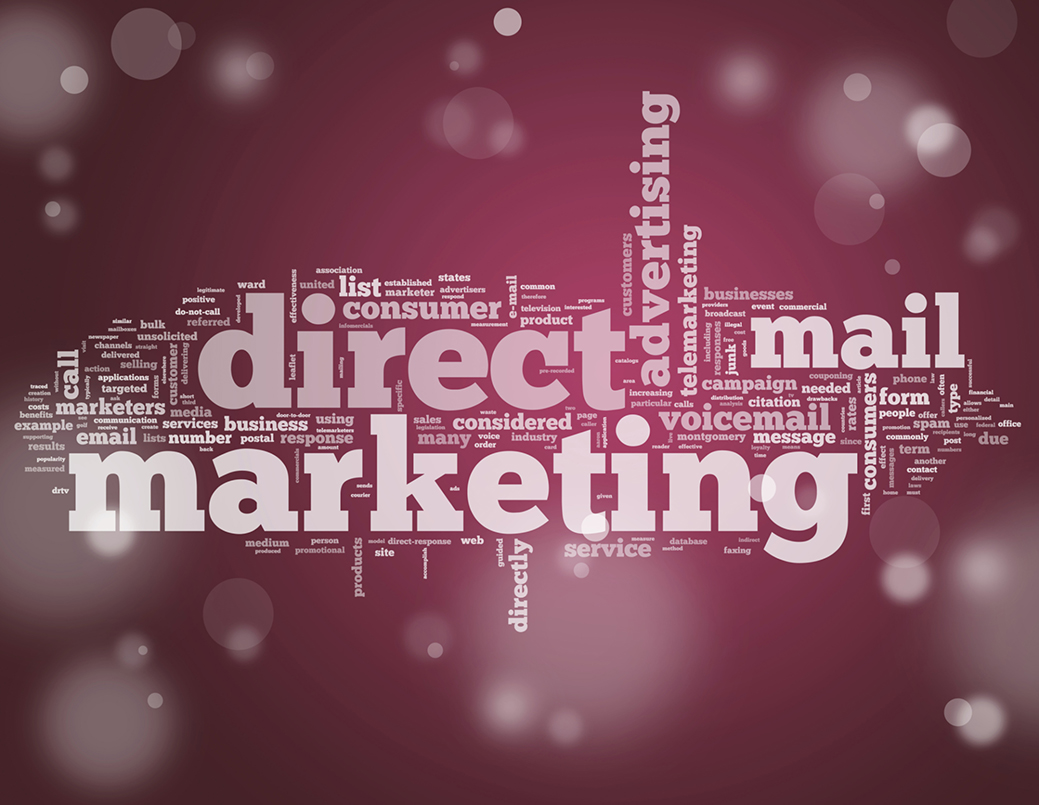 Direct mail associated words