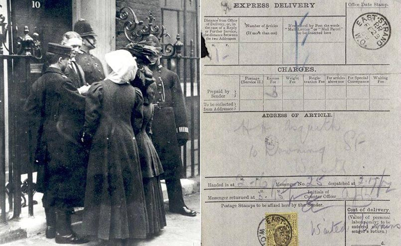 Suffragettes and delivery note