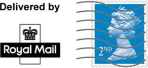 logo delivered by royal mail 2nd class