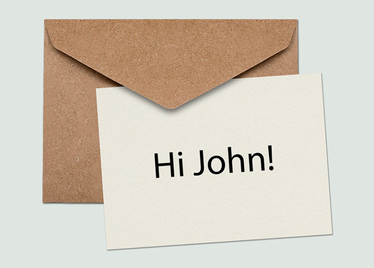 targeted and personalised direct mail